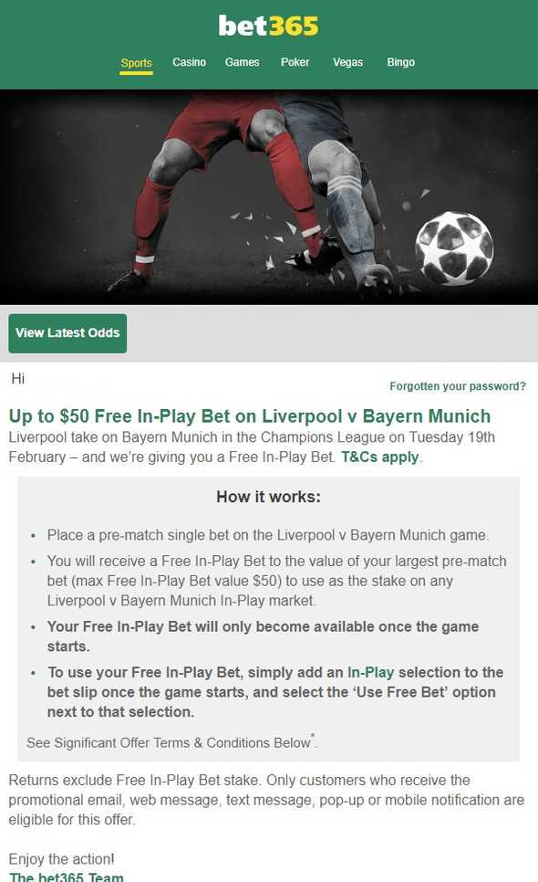 Champions League offer